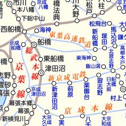 路線図 千葉県地図 千葉県[県域のみ]の白地図